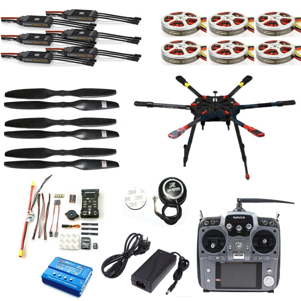 Pro 2 4G 10CH 960mm RC Hexacopter font b Drone b font Tarot X6 Folding Retractable