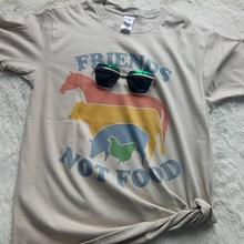 """""""Friends Not Food"""" vegan women shirt"""