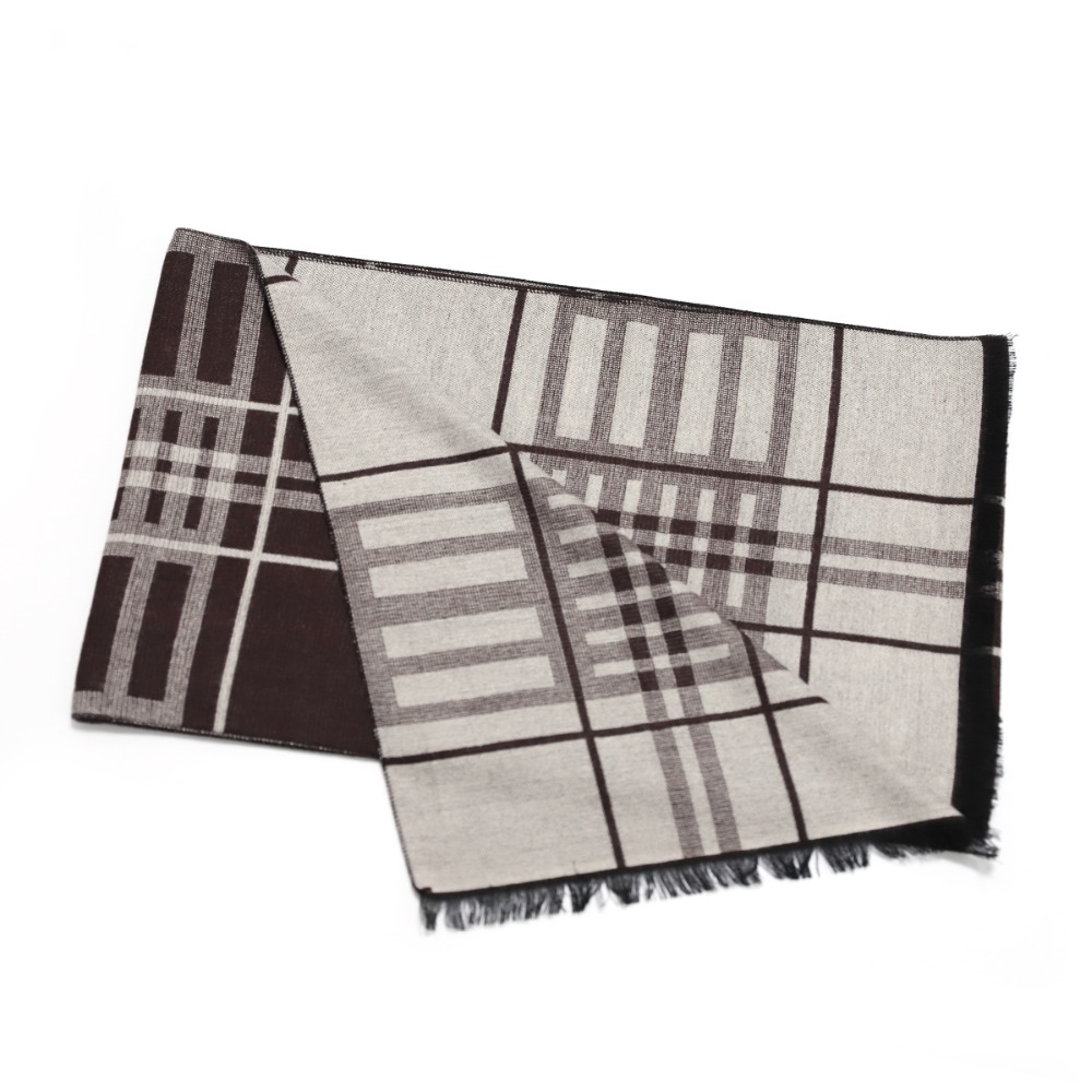 Cashmere Scarf  Wool Woolen Scarves Best Gift for Men Male Double Sides Scarves Long Shawl Wrap Luxury Fashion Plaid Scarf