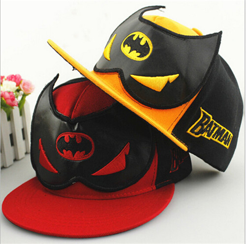 2016 Fashion Batman Kids Baseball Cap Children Adjustable Flat Hip Hop Cap Baby Boys Girls Snapback Sun Hats 2016 fashion kids cartoon snapback caps flat brim child baseball cap embroidery cotton cap baby boys girls peaked cap