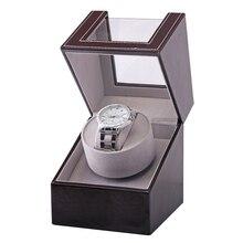 Коллекция намотки часов Прозрачная крышка автоматический механический роскошный дисплей коробка держатель мотор шейкер ювелирные изделия США штекер чехол