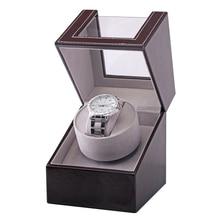 Коллекция намотка для часов Прозрачная крышка автоматический механический роскошный витринный ящик держатель мотор шейкер ювелирные изделия вилка США чехол