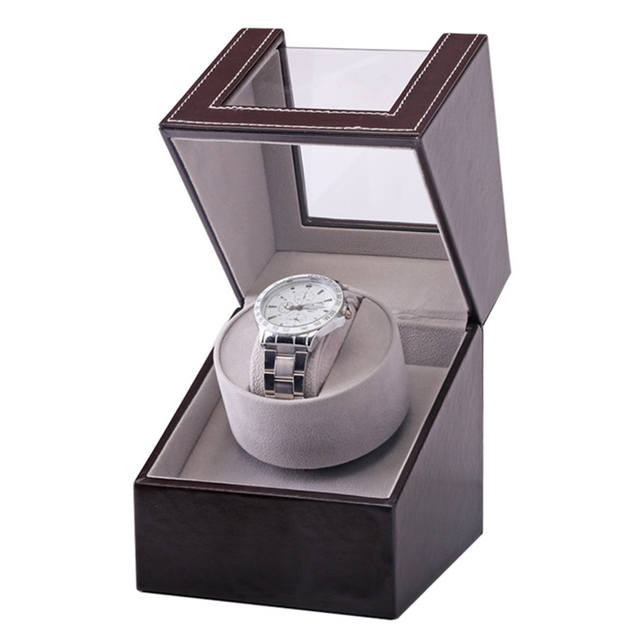 Collection Watch Winder Transparent Cover Automatic Mechanical Luxury Display Box Holder Motor Shaker Jewelry US Plug Case