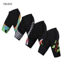 HOT! TELEYI Team heren Fietsen kleding Ropa Ciclismo Fietskleding Bike shorts fiets Panty Gewatteerde Gel XS-4XL
