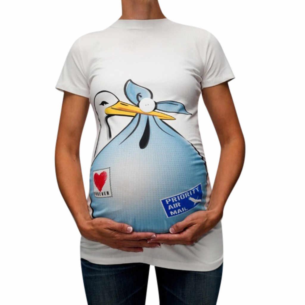 Ropa de maternidad para mujeres embarazadas lindo diseño divertido ...