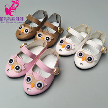 "18"" doll leather shoes For born baby doll shoes 18 inch girl doll pink white brown shoes(China)"