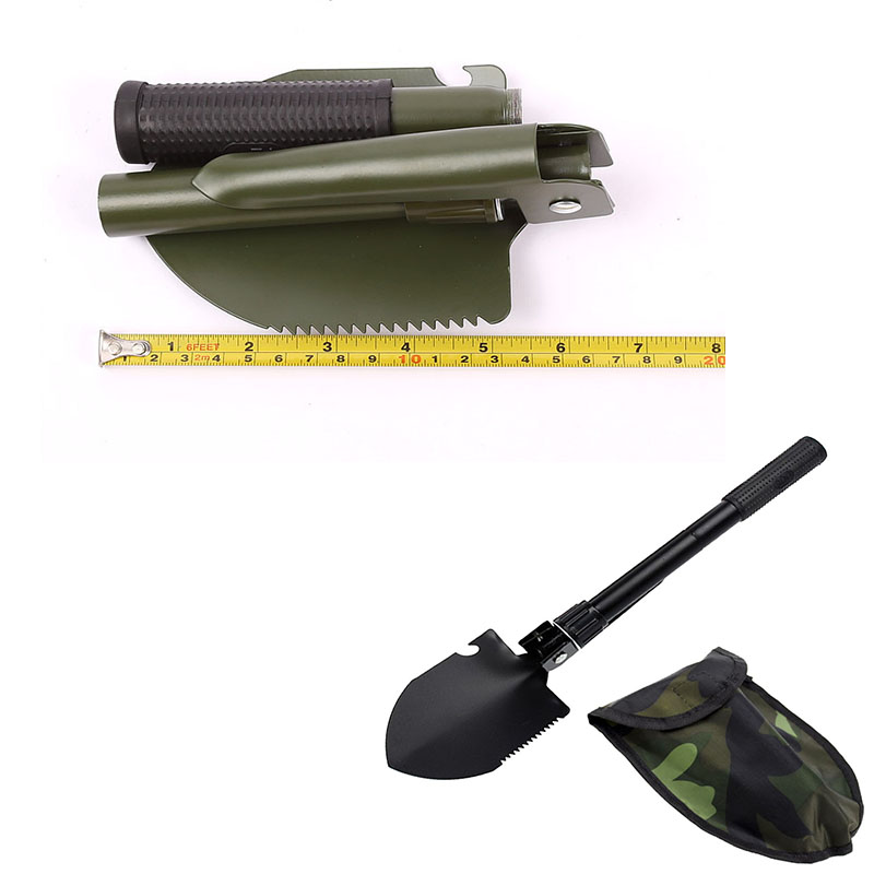 Military Portable Folding Beach Shovel Survival Spade Trowel Dibble Pick Emergency Garden Camping Outdoor Palaplegable Tool(China)