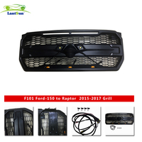 FRONT RACING GRILLS ABS Front Bumper Grille Trim Decoration Cover for FORD grill F150,2015 2017 Aircraft grid with led