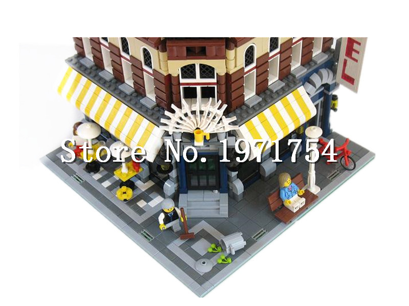 Model van huisarchitectuur lepin makers serie de baksteen bank