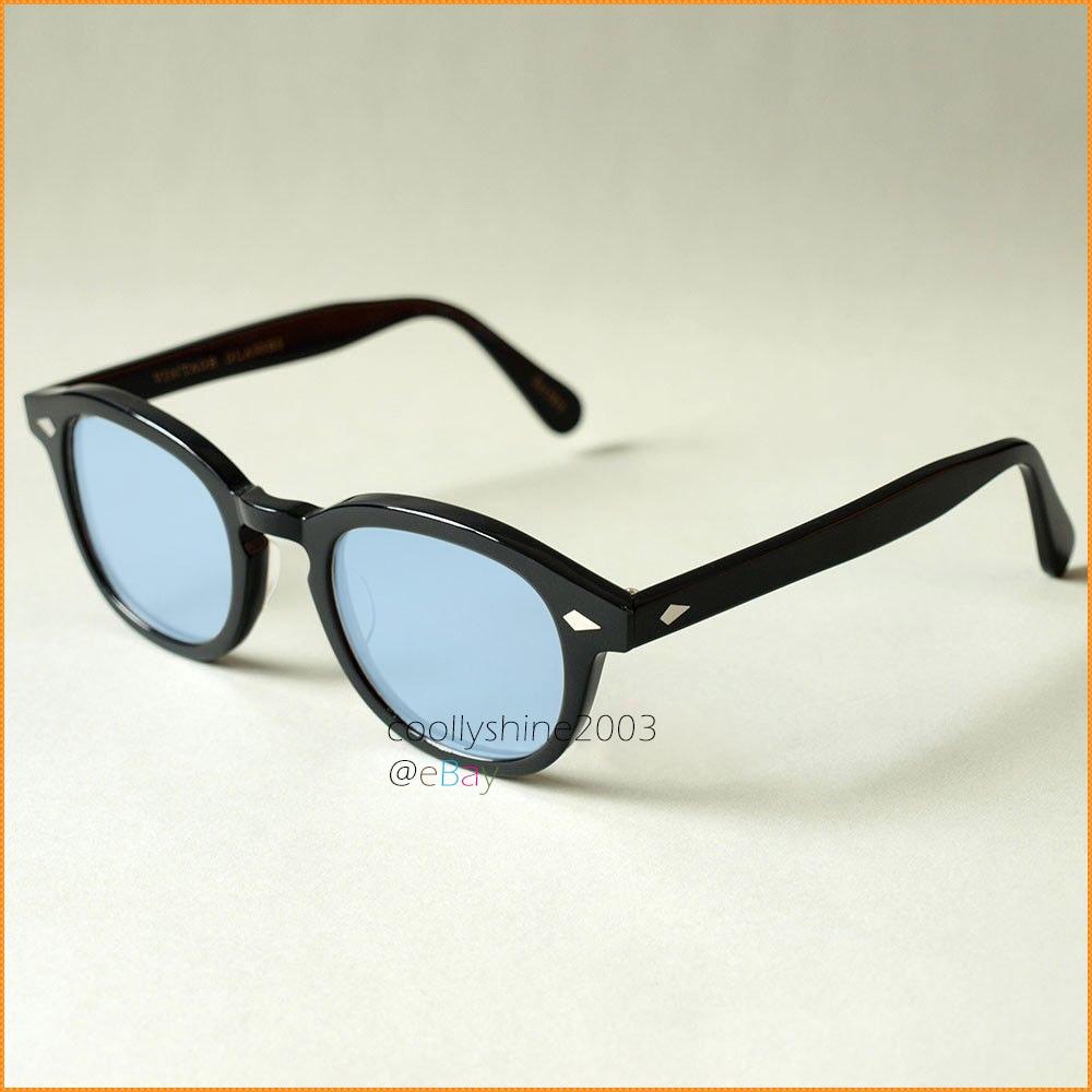 091560b0087 Tinted Retro Eyeglasses Tortoise Black Johnny Depp acetate Frame Sunglasses  Blue lens-in Eyewear Frames from Apparel Accessories on Aliexpress.com