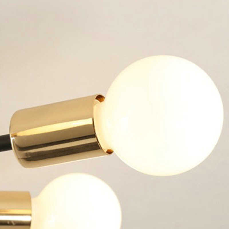 E27 מודרני נורדי מעצב שחור לבן Led תקרת נברשת אור נברשות מנורת סלון מטבח לופט חדר שינה ילדים