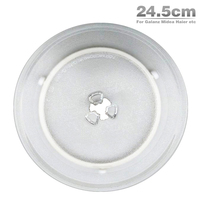 2pcs Lot Free Shipping High Quality 24 5cm Microwave Oven Glass Plate For Galanz Midea Haier
