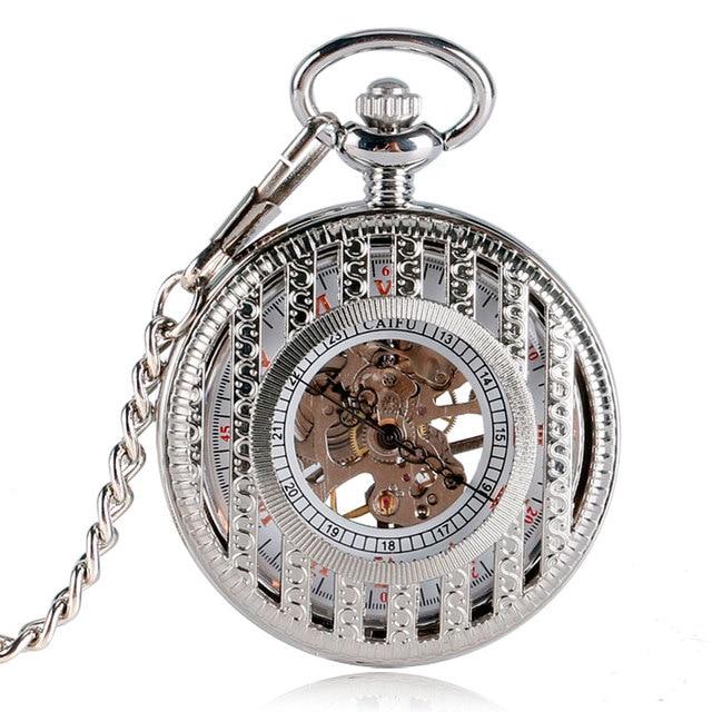 6c9f2ddb3 Luxo de Prata Pingente Para Enfermeira Fob Relógio de Bolso Tarja Hour  Relógio de Esqueleto Mão