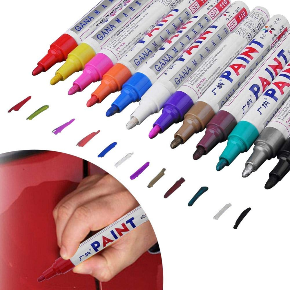 Generous 8 Colors Car Paint Pen Universal Waterproof Graffiti Paint Pen Oily Pen Tire Touch Up Graffiti Oily Marker Pen Products Hot Sale Electrical System Back To Search Resultsautomobiles & Motorcycles