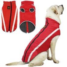Manteau coupe-vent réfléchissant pour chiens, veste chaude d'hiver pour moyens et grands chiens, vêtements pour animaux de compagnie Golden Retriever Bulldog
