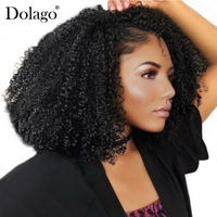 3B 3C Kinky Curly Clip In Human Hair Extensions Full Head Sets 100% Human Natural Hair Clip Ins Dolago Brazilian Remy Hair