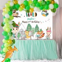 QIFU 108pcs Green Balloon Chain Combination Jungle Party Decor Safari Party Jungle Theme Birthday Party Decor Kids Baby Shower