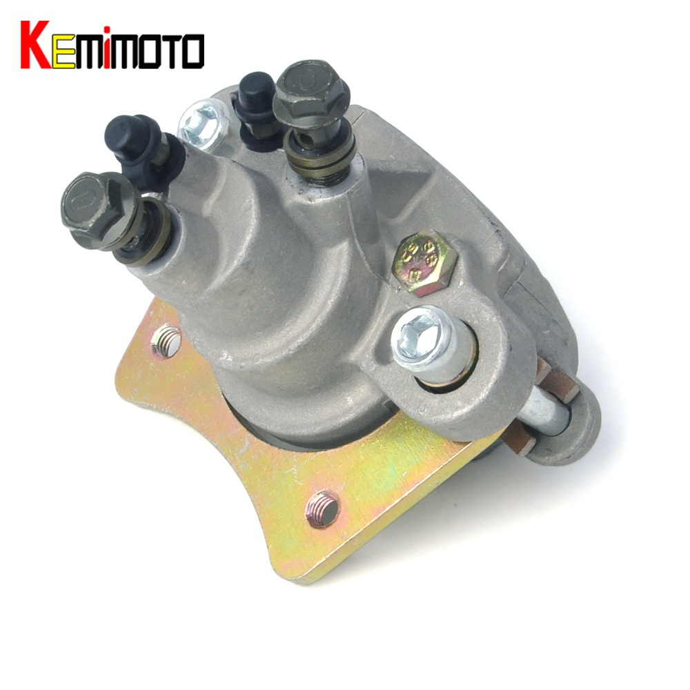 KEMiMOTO For Polaris Sportsman 400 450 500 600 700 800 Rear Brake Caliper With Pad ATV Brake kits left front brake master cylinder for polaris sportsman 400 500 550 600 700 800 atv magnum 425 2x4 4x4 300 450 400