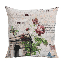 Arch of Triumph French Sofa Cushion Cover European Embroidered Seat Pillow Cases Home Decoration Wholesale Price New Home Gift