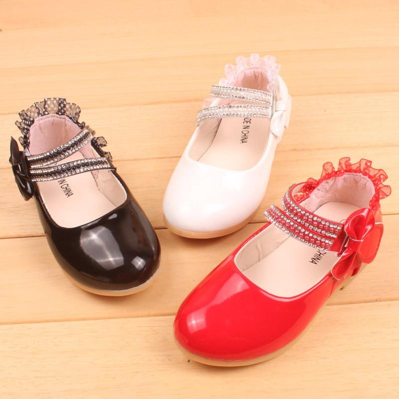 2016 Uus mood patent nahast pits tüdrukud kingad korterid