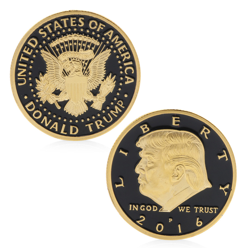 Donald Trump Design Commemorative Coin Zinc Alloy Commemorative Coin Collection Nocurrency Coins Gift Black Friday