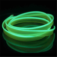 2M Red flexible Auto Car Interior LED EL Wire Rope Tube Line neon light glow salon flat strip Pathway Lighting 12V