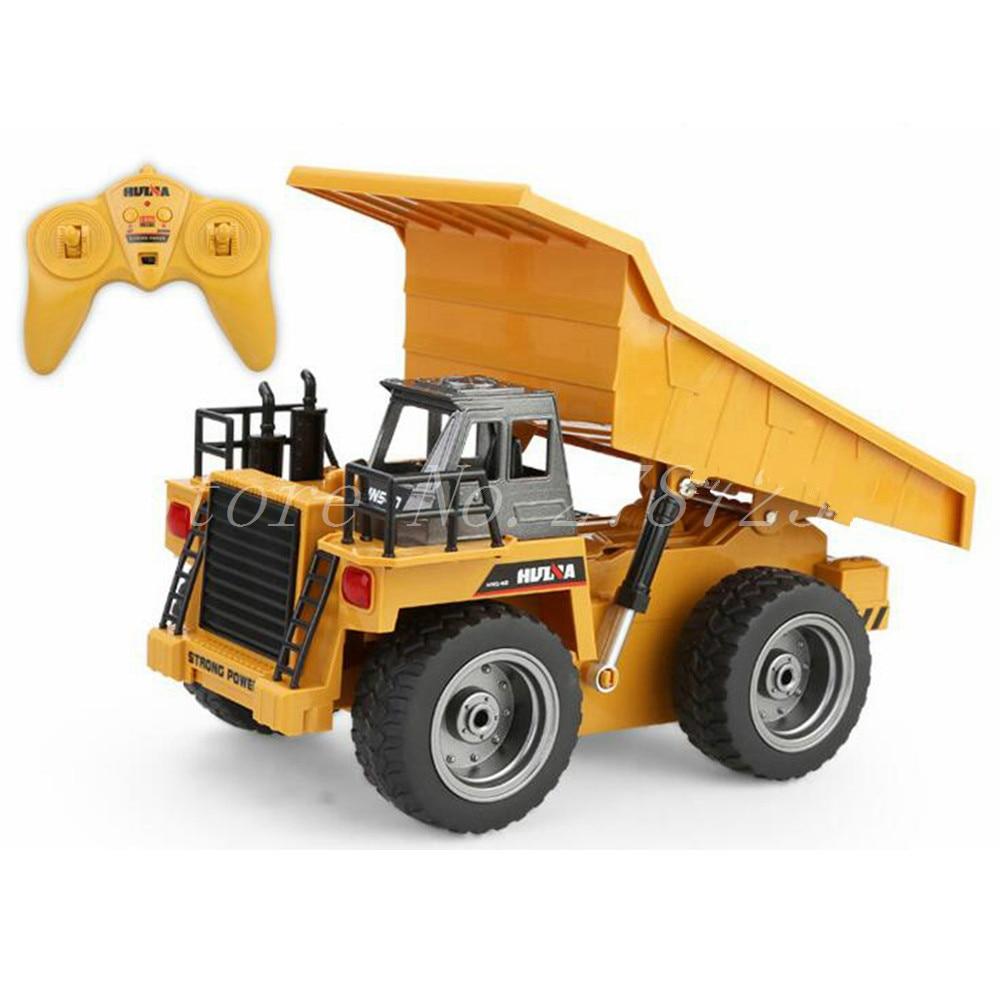 HuiNa Toys 540 Six canaux 6ch 1/12 40hmz Rc métal camion à benne basculante télécommande jouets avec batterie de charge enfant jouet cadeau de noël