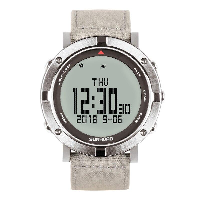 SUNROAD Men Digital Watch Heart Rate Compass Altimeter Barometer Digital Clcoks Reloj Hombre 5ATM Waterproof Sports