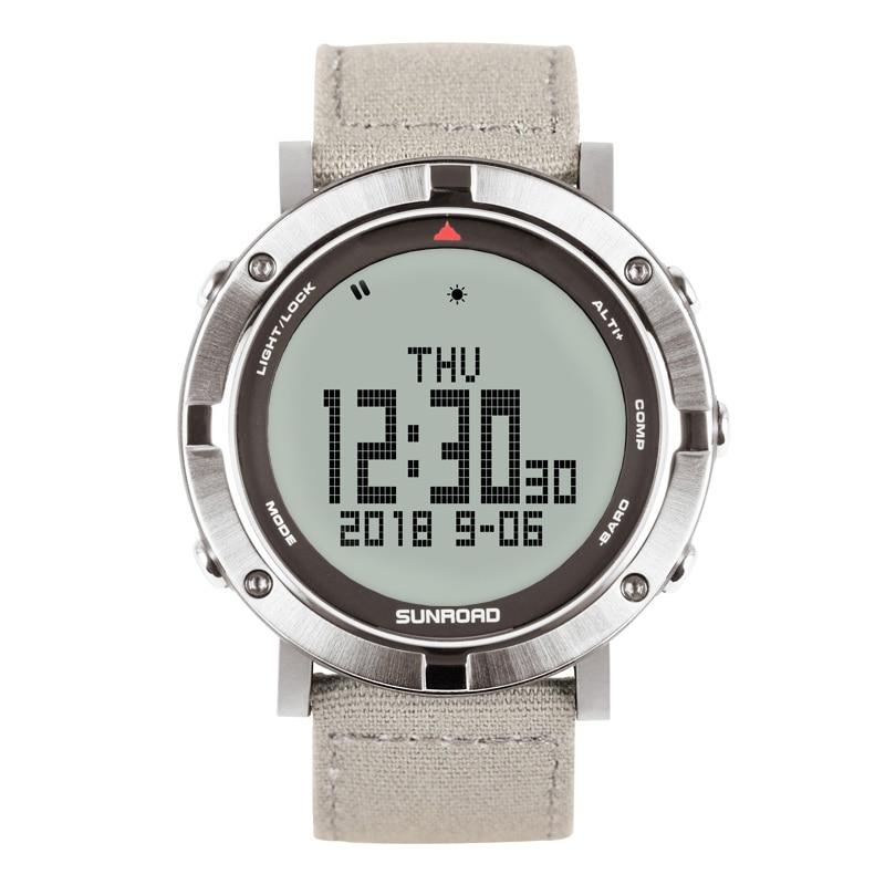 SUNROAD męski zegarek cyfrowy tętno kompas barometr wysokościomierz cyfrowy Clcoks Reloj Hombre 5ATM wodoodporny zegarek sportowy w Zegarki cyfrowe od Zegarki na  Grupa 1