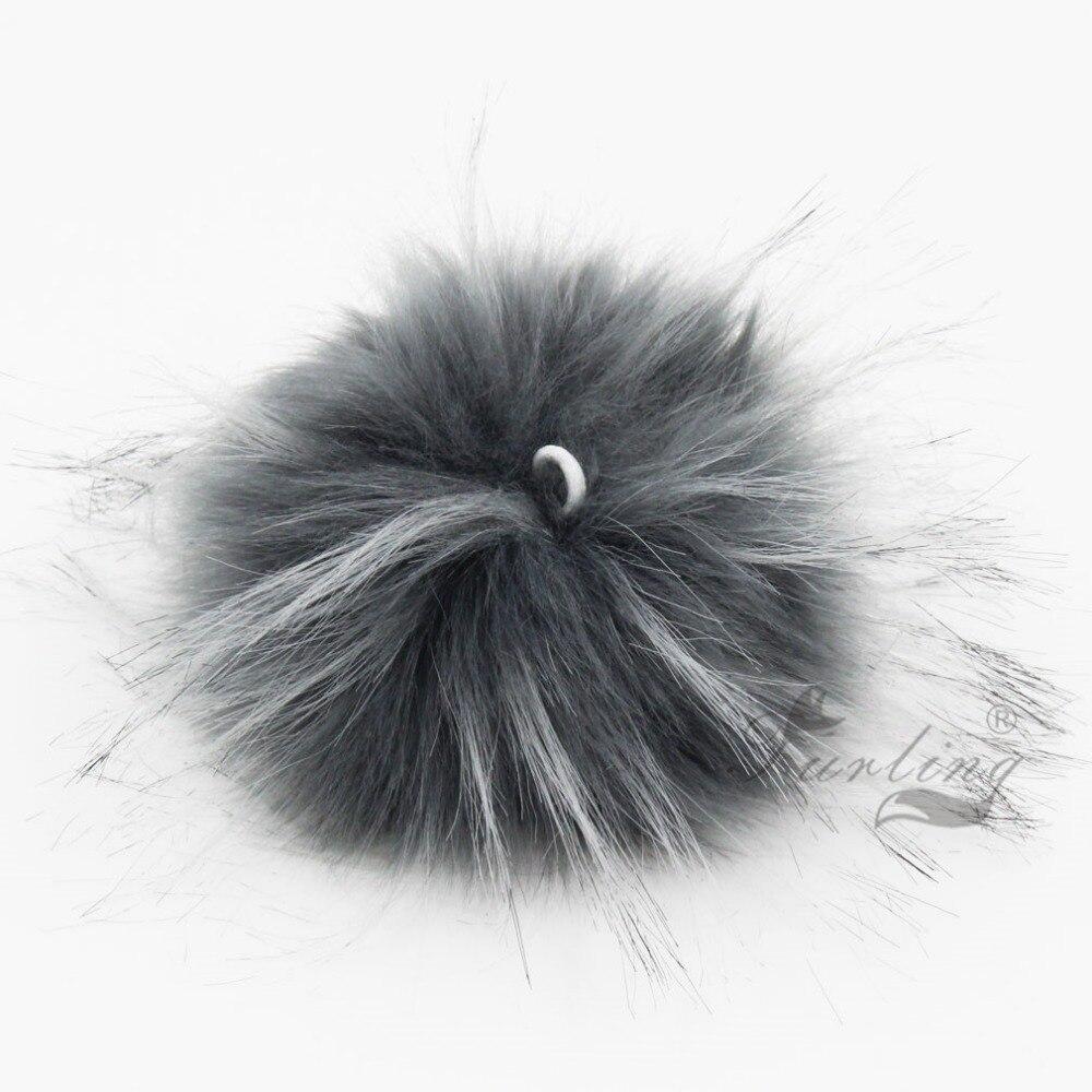 Furling DIY 12pcs Faux Raccoon Krzno 11CM Puhasto Pom Pom Ball za Hat - Modni nakit - Fotografija 4