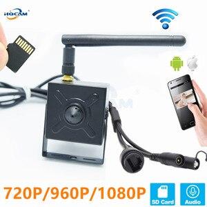 Image 1 - Hqcam 5.0mp 720 p 960 p 1080 p áudio wi fi ip câmera de vigilância sem fio indoor câmera de segurança em casa onvif tf slot para cartão app camhi