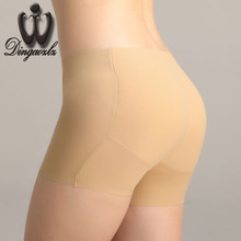 Sexy breathable Plus pad Women's underwear False ass anti-emptied Panties female Letter Printed Women Briefs
