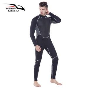 Image 4 - Terno de mergulho genuíno de 3mm, neoprene, peça única e perto do corpo, para homens, mergulho, surf, mergulho tamanho grande