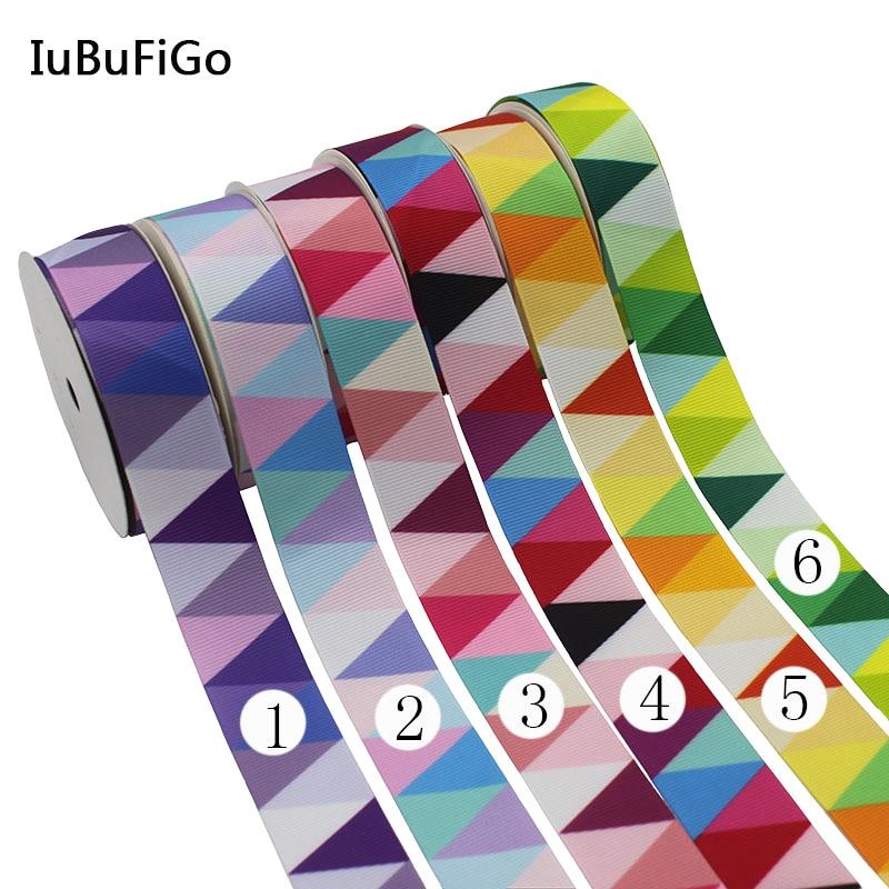 """[IuBuFiGo] Новинка печатных Grosgrain ленты Полиэфирная лента для украшения дома """" 25 мм 10yard/lot x10Y117"""