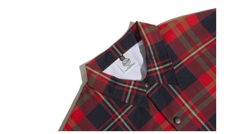 Hip Moda Para Abrigo Carta Hop Estilo Bordado Chaqueta Streetwear Hombres  Plaid Hombre Casual Camisa Rojo ... 652f58fde6