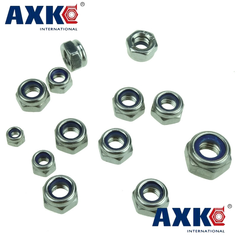 DIN985 M2 M3 M4 M5 M6 M8 M10 M12 M14 M16 M18 M20 Galvanized Carbon Steel Self-locking Nut Lock Nut Locknut Slip Nylon Hex Nut m1 m1 2 m1 6 m2 m2 5 m3 m4 m5 m6 m8 m10 m12 m14 m16 m18 m20 hex nut micro small nuts stainless steel din934