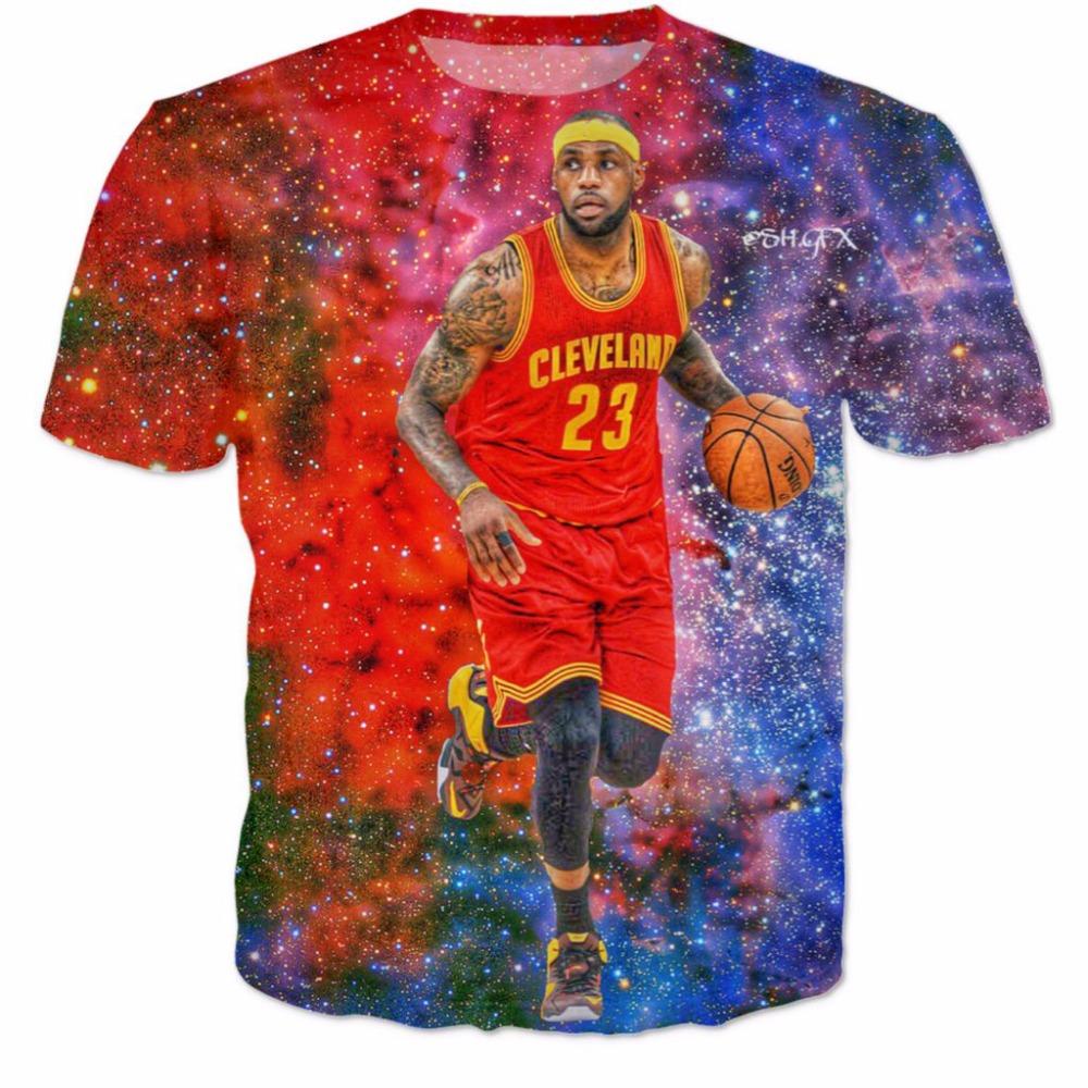 eb46017d17bc PLstar Cosmos hot sale Men Women brand T-shirts star Lebron James 3D Print  fashion T Shirt 2017 summer style casual Tee Shirts