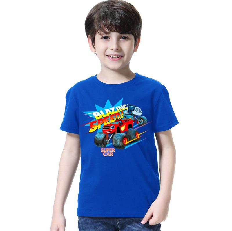 Fashion Baby Boys tshirt Children t shirts Blouses Kids Blazing Tops Cartoon Car Print Clothing Infants Costume Party Shirt 1