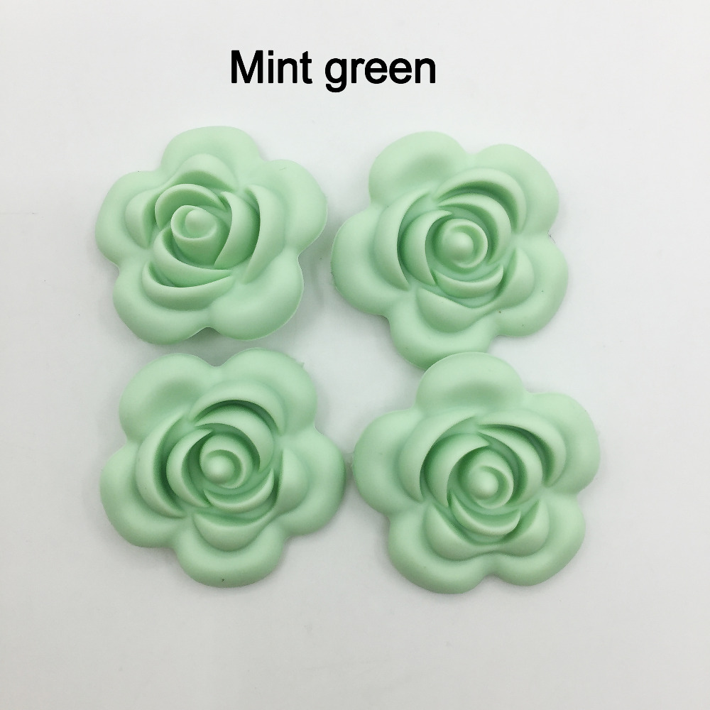 Food Grade BPA free FDA approved Loose Silicone Beads for Teething Necklace Chew Jewelry Lot of 25 Flower Silicone Beads Large 40mm