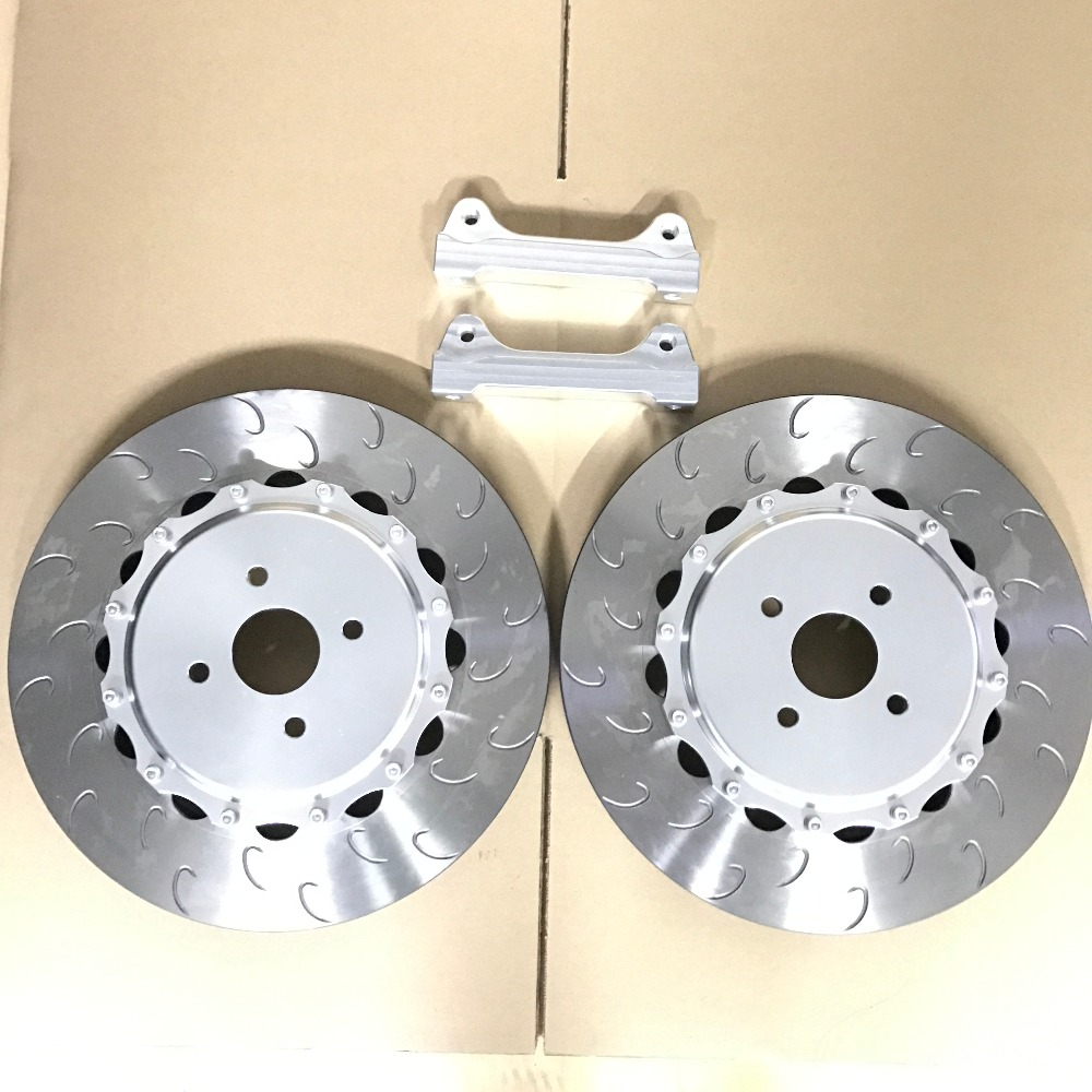 Jekit Brake part 330*28mm brake disc rotors with center hats and adaptors for toyota land cruiser 100 for JK5200 brake calipers