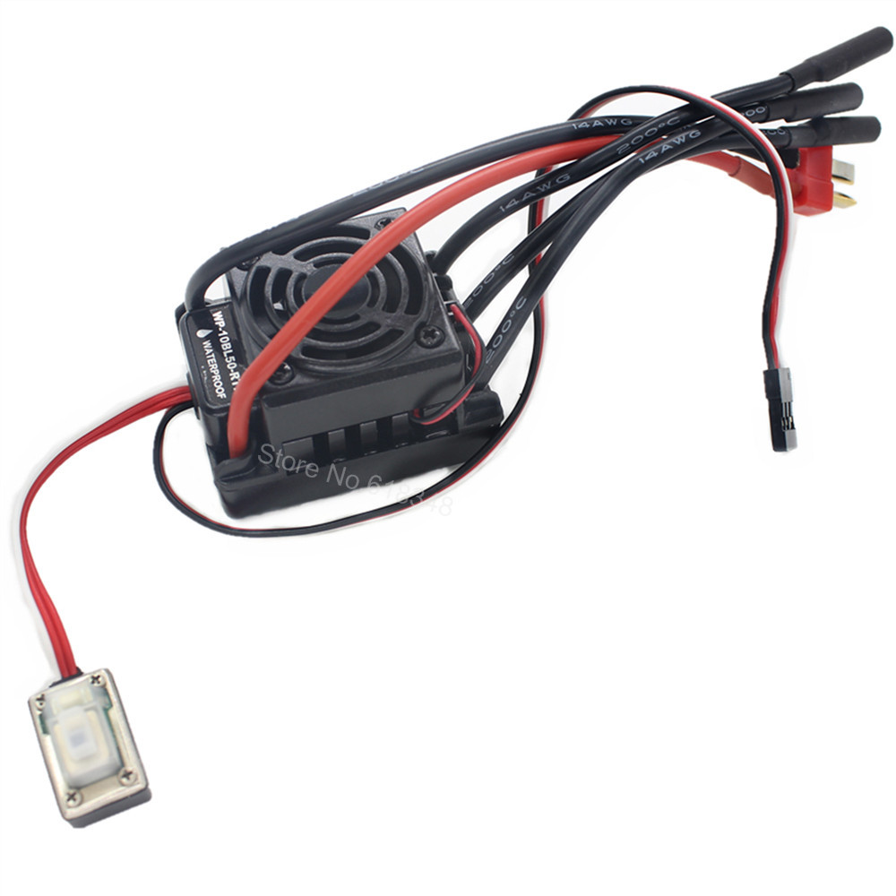 Étanche 50A Brushless Speed Controller ESC HSP 37017 (03307) WP-10BL50-RTR Programmable Fit 2-3 s Lipo Pack pour 1/10 RC Voiture