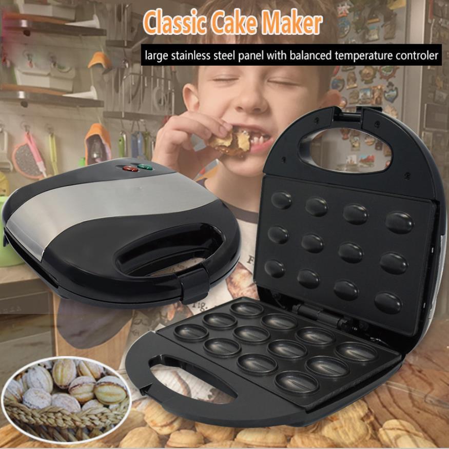 Mini Sandwich Iron Toaster Baking Breakfast Pan Oven Electric Walnut Cake Maker Automatic Mini Nut Waffle Bread Machine(China)