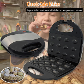 Mini Sandwich Iron Toaster Baking Breakfast Pan Oven Electric Walnut Cake Maker Automatic Mini Nut Waffle Bread Machine
