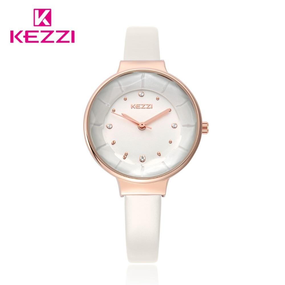 Kvinde elegante læder ure 2018 luksus kvinder ure top mærke diamond - Dameure - Foto 1