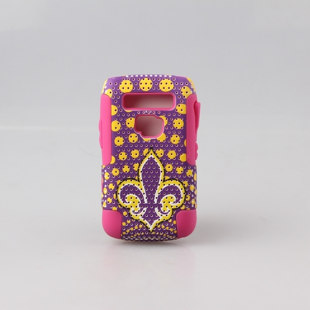Free Shipping Phone case Cover smartphone case manufacturers Silicone +  Printing PC for Blackberry 9700 Bold