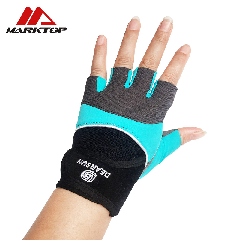 Marktop gym weight lifting Gloves Dumbbell Weightlifting Fitness Exercise Non Slip Breathable Half Finger sports Training Gloves in Fitness Gloves from Sports Entertainment