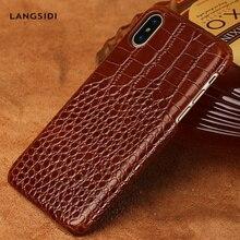 Пояса из натуральной кожи чехол для iPhone X XS XSMax XR 8 плюс 7 6 S 6splus Крокодил текстуры Роскошные marvel чехол для телефона панцири coque