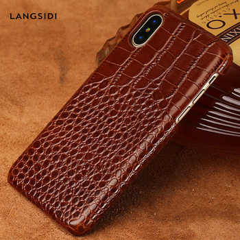 Genuine leather phone case for iPhone X 11 11Pro 11 Pro Max XS XSMax XR 8 8plus 7 7plus 5 se 6 6S 6S Plus crocodile Grain luxury - DISCOUNT ITEM  20% OFF All Category