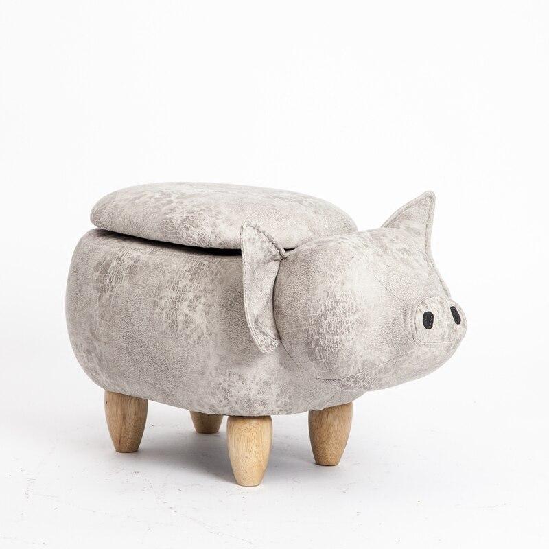 Kruk 2018 Promotion en bois nouveau moderne Taburetes Pouf Poire porcelaine chinoise cochon tabouret stockage chaussures magasin de vêtements petit canapé