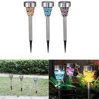 3pcs Lot Solar LED Lawn Light Garden Yard Path LED Solar Lamp Lights Waterproof Outdoor Landscape